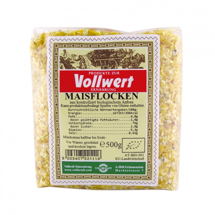 Maiflocken bio 500g Vollkraft