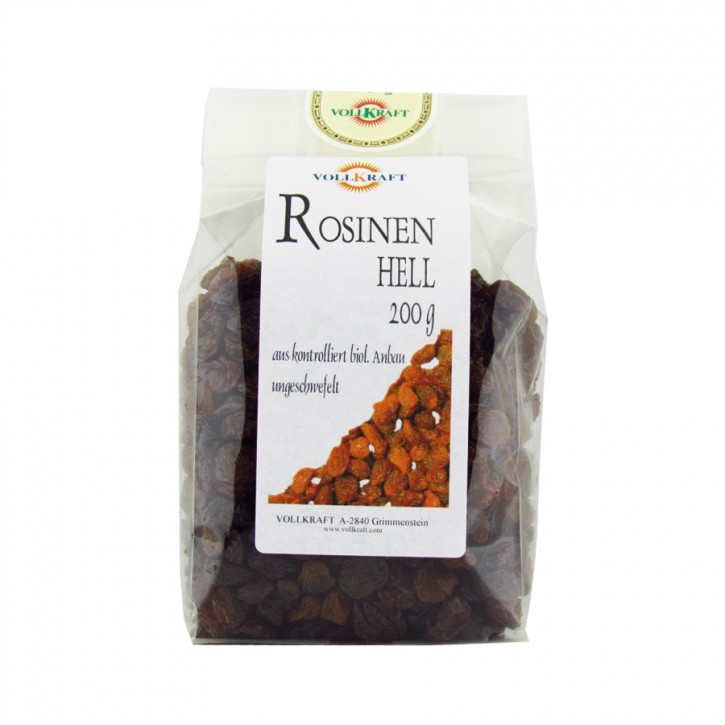 Bio Rosinen hell 200g Vollkraft