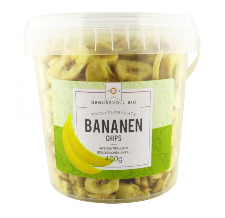 Box Bananenchips bio 400g Vollkraft