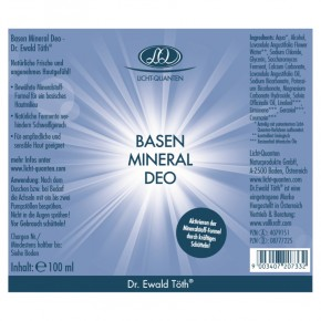 Basen Mineral Deo 100ml Dr.Ewald Töth