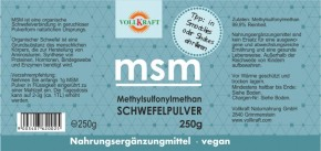 MSM Pulver 250g Vollkraft
